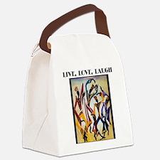 Live, Love, Laugh .png Canvas Lunch Bag