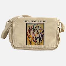 Live, Love, Laugh .png Messenger Bag