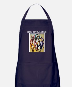 Live, Love, Laugh Apron (dark)