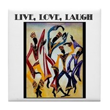 Live, Love, Laugh .png Tile Coaster