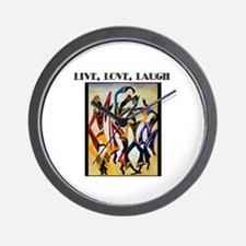 Live, Love, Laugh .png Wall Clock
