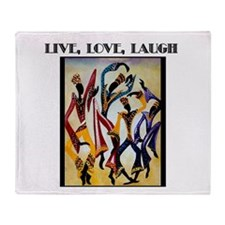 Live, Love, Laugh .png Throw Blanket