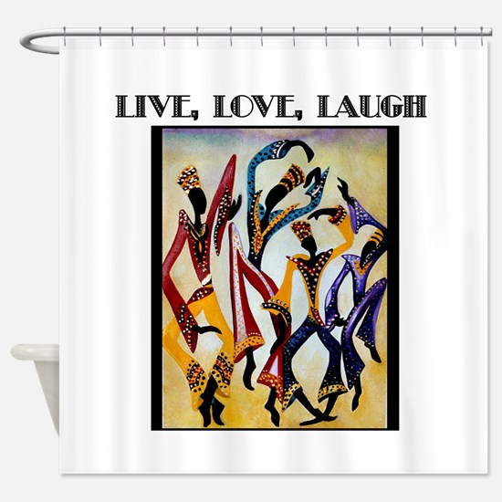 Live, Love, Laugh .png Shower Curtain