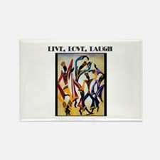Live, Love, Laugh .png Rectangle Magnet