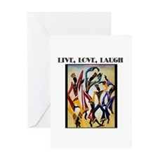 Live, Love, Laugh .png Greeting Card