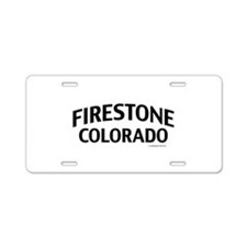 Firestone Colorado Aluminum License Plate