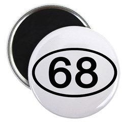 Number 68 Oval 2.25