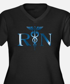 RN Nurse Caduceus Plus Size T-Shirt