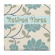Retired Nurse Pillow 10 Tile Coaster