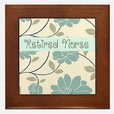 Retired Nurse Pillow 10 Framed Tile