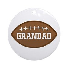 Grandad Football Sports Ornament (Round)