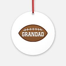Grandad Football Sports Ornament (Round)