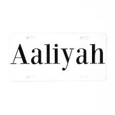 Cute Aaliyah Aluminum License Plate