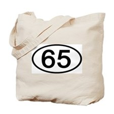 Number 65 Oval Tote Bag
