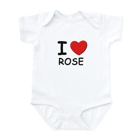I love Rose Infant Bodysuit