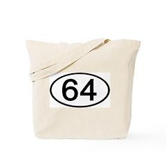 Number 64 Oval Tote Bag