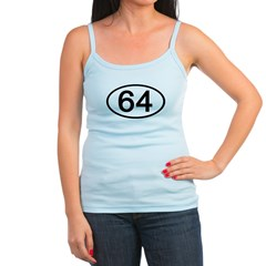 Number 64 Oval Jr.Spaghetti Strap