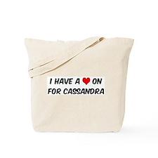 Heart on for Cassandra Tote Bag