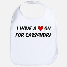 Heart on for Cassandra Bib