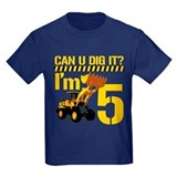 5th birthday Kids T-shirts (Dark)