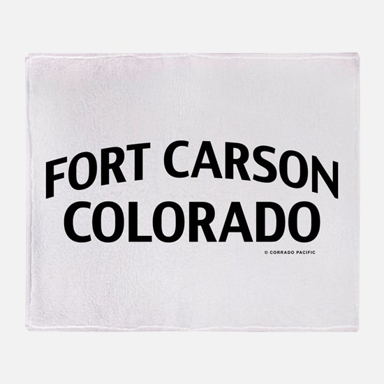 Fort Carson Colorado Throw Blanket