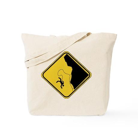 Climbing Sign Tote Bag