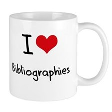 I Love Bibliographies Mug