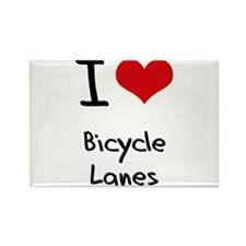 I Love Bicycle Lanes Rectangle Magnet