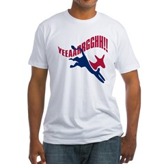 KICKING AND SCREAMING Fitted T-Shirt