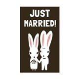 Wedding rabbit bunny Stickers