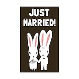 Wedding rabbit bunny Stickers & Flair