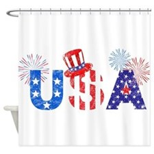 USA Independence Day Shower Curtain