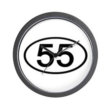Number 55 Oval Wall Clock
