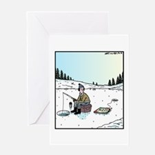 Ice-fishing Pizza bait Greeting Card