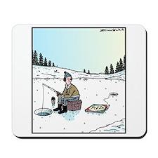 Ice-fishing Pizza bait Mousepad