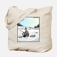 Ice-fishing Pizza bait Tote Bag