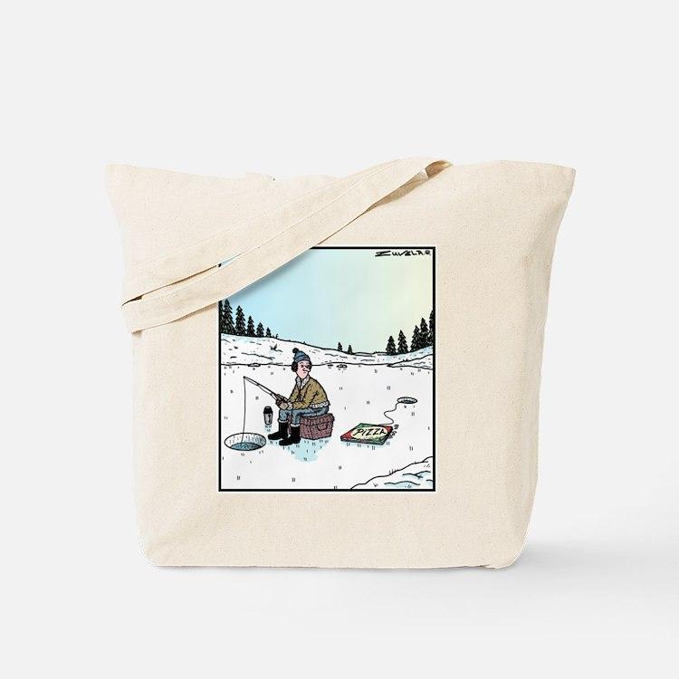 Ice fishing tote bags ice fishing beach canvas tote bags for Ice fishing bag