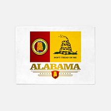 Alabama Gadsden Flag 5'x7'Area Rug
