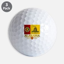 Alabama Gadsden Flag Golf Ball