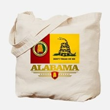 Alabama Gadsden Flag Tote Bag