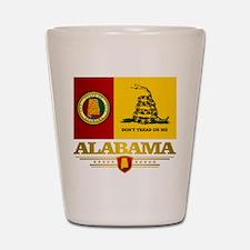 Alabama Gadsden Flag Shot Glass