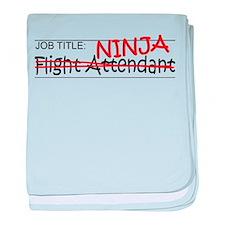 Job Ninja Flight Attendant baby blanket