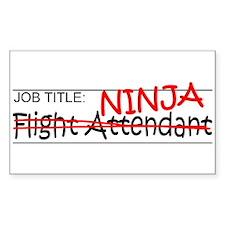 Job Ninja Flight Attendant Decal