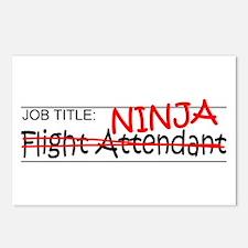 Job Ninja Flight Attendant Postcards (Package of 8