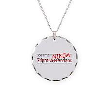 Job Ninja Flight Attendant Necklace Circle Charm