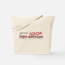 Job Ninja Flight Attendant Tote Bag