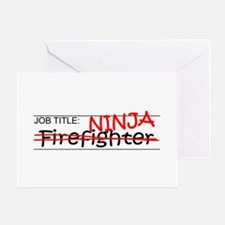 Job Ninja Firefighter Greeting Card