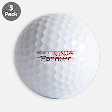 Job Ninja Farmer Golf Ball