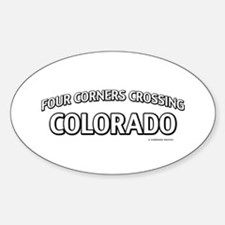 Four Corners Crossing Colorado Decal