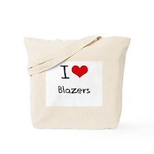 I Love Blazers Tote Bag